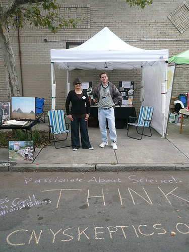 CNY Skeptics booth at Westcott Street Fair
