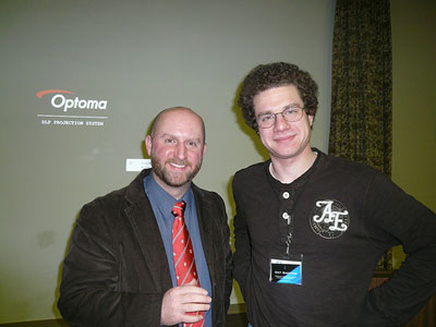Jason Wiles and David Harding at the November meeting
