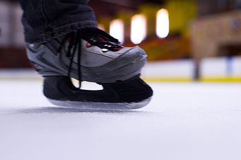 close up photo of someone ice skating