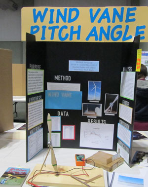 Photo of science fair project Wind Vane Pitch Angl2