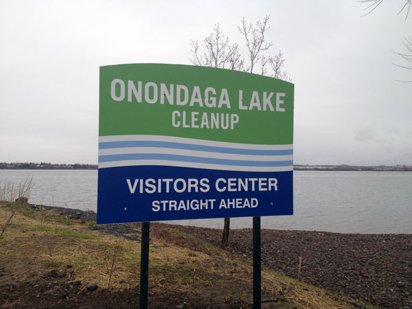 Onondaga Lake Cleanup Sign