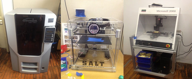 3-D printers and equipment at Makerspace