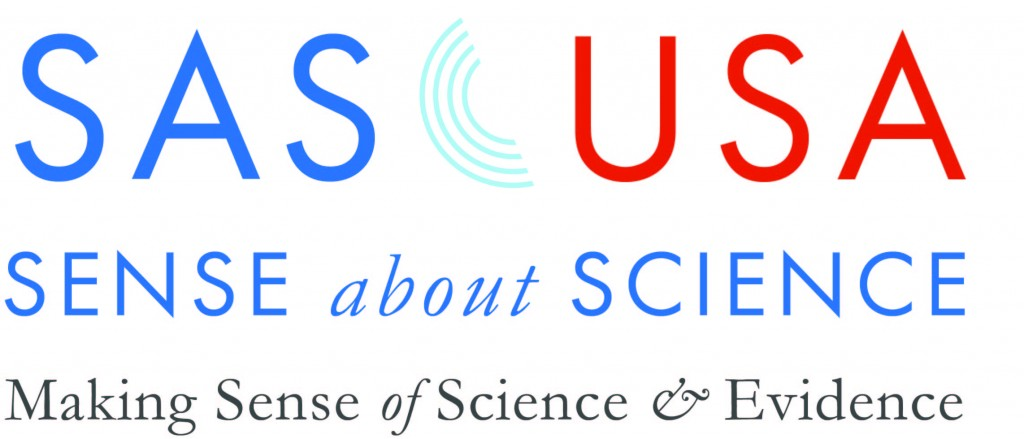 Sense about science logo with the words Sense About Science, Science and evidence in the hands of the public
