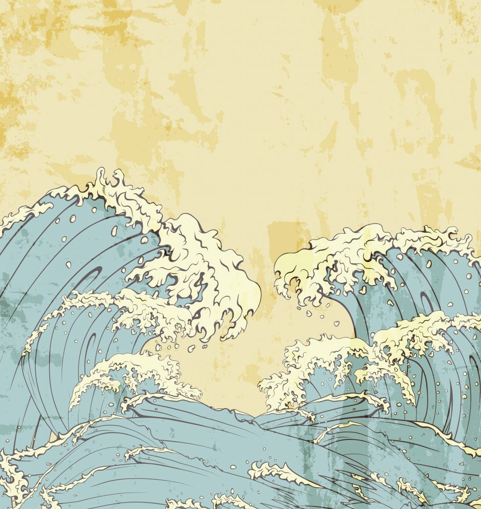 Illustration of ocean waves