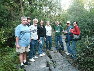 CNY Skeptics group at Clark Reservation in August 2008